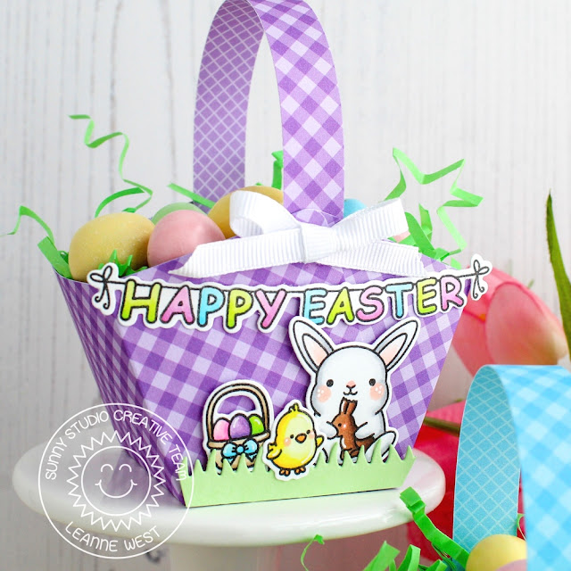 Sunny Studio Stamps: Chubby Bunny Comic Strip Everyday Dies Easter Treat Box by Leanne West