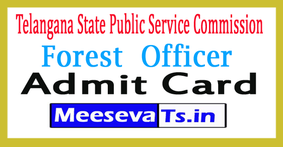 TSPSC Forest Beat Officer Admit Card 2017