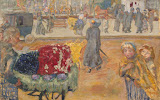 Evening in Paris by Pierre Bonnard - Landscape Paintings from Hermitage Museum