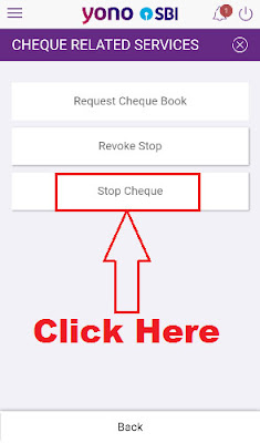 how to stop cheque payment in sbi phone banking