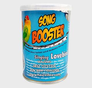 Song Bosster LoveBird adalah Pakan suplemen alami berkualitas yang bisa digunakan untuk semua jenis burung LoveBird