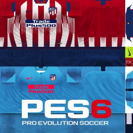 PES 6 Atletico Madrid 2018/19 GDB Kits