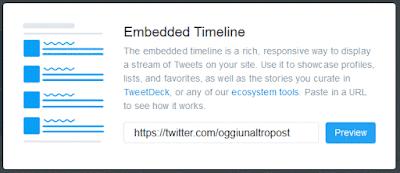 Embedded timeline