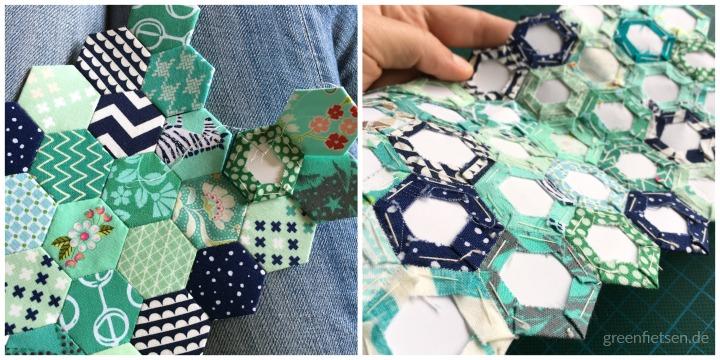 English Paper Piecing | Hexies nähen für den Fünf-Fach-Organizer