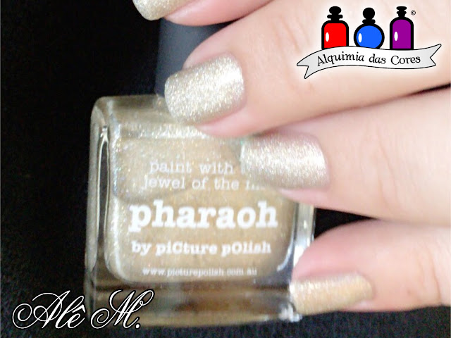 picture polish, pharaoh, holografico, dourado, cici & sisi, Islamic Building 02, Manglaze, Santorum, Alê M.