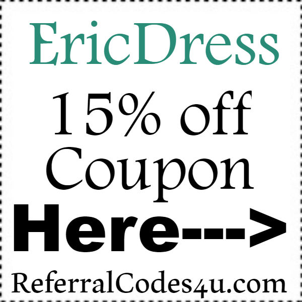 EricDress.com Discount Codes 2016-2021, EricDress Clothing Coupons August, October, November
