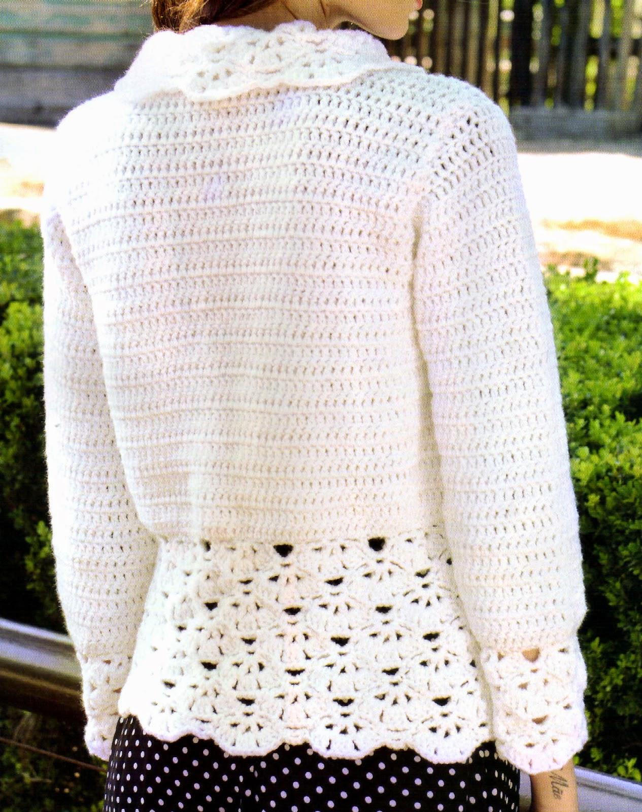 tejidos artesanales en crochet saco tejido en crochet con un bonito detalle. Black Bedroom Furniture Sets. Home Design Ideas