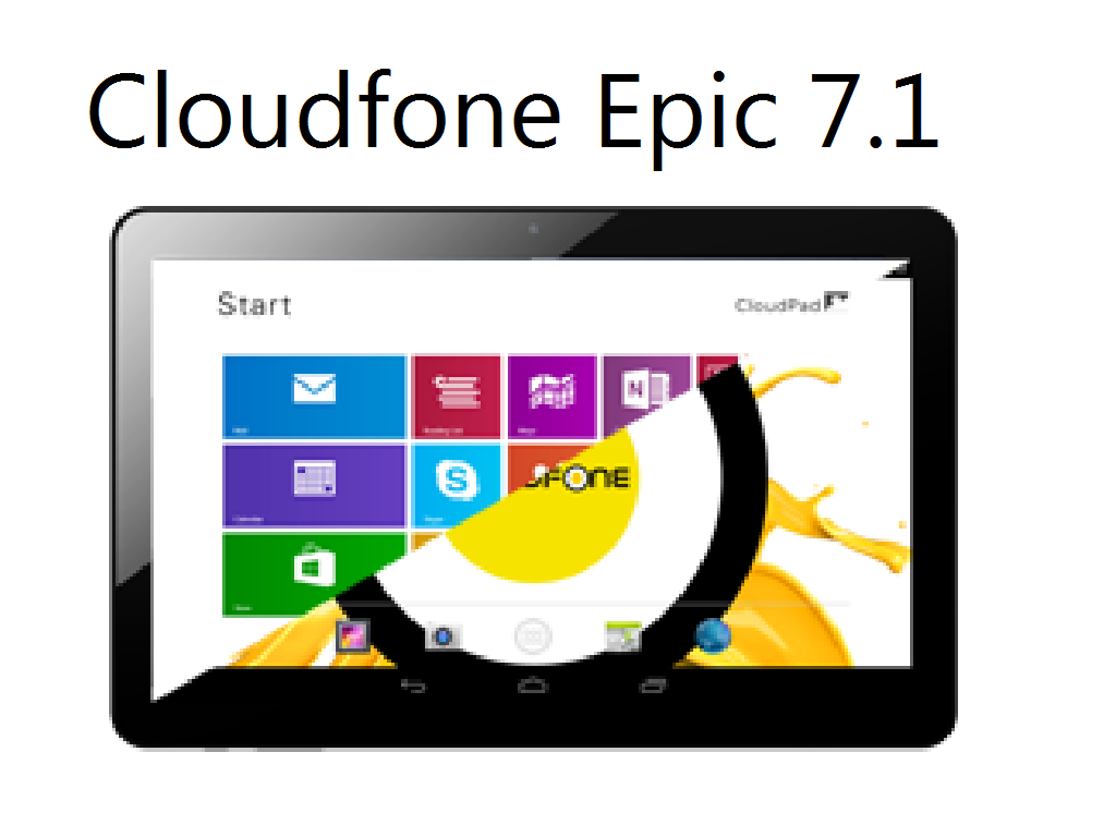 Cloudfone Epic 7.1, One Of The First Dual Boot Operating System Tablet!