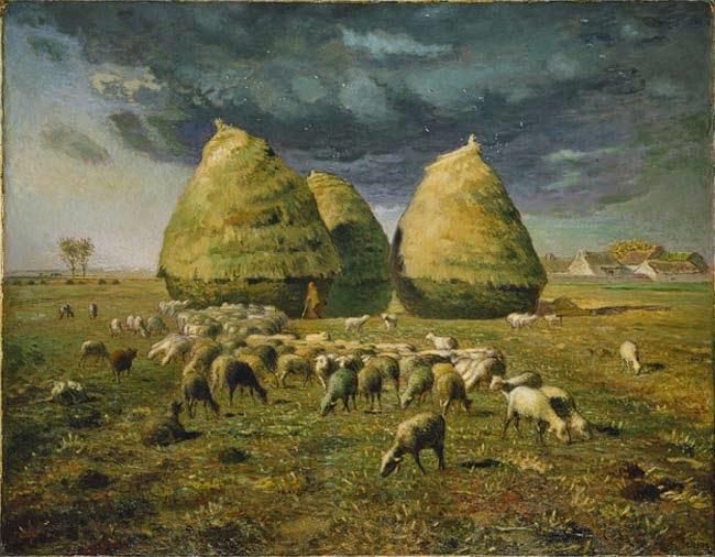 Palheiros - Millet, Jean-Francois e suas principais pinturas | Realismo