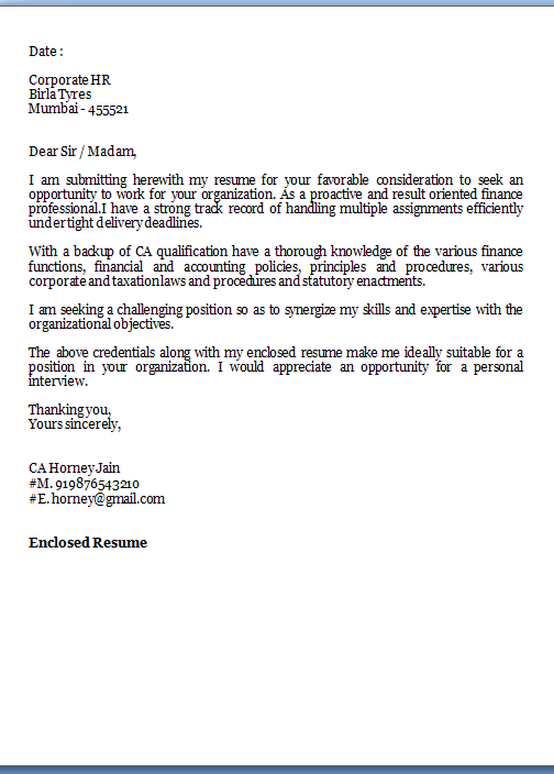 free cover letter template
