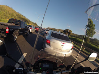Engarrafamento na estrada para Diamantina/MG.