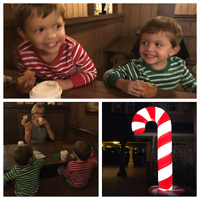 My elves enjoying hot cocoa & cookies at MVMCP