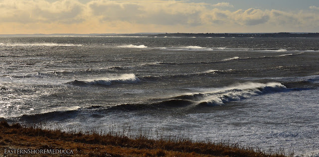Large Waves at Lawrencetown Beach, Nova Scotia. -13c + windchill. easily -25c today