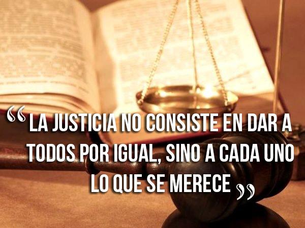 frases cortas de justicia
