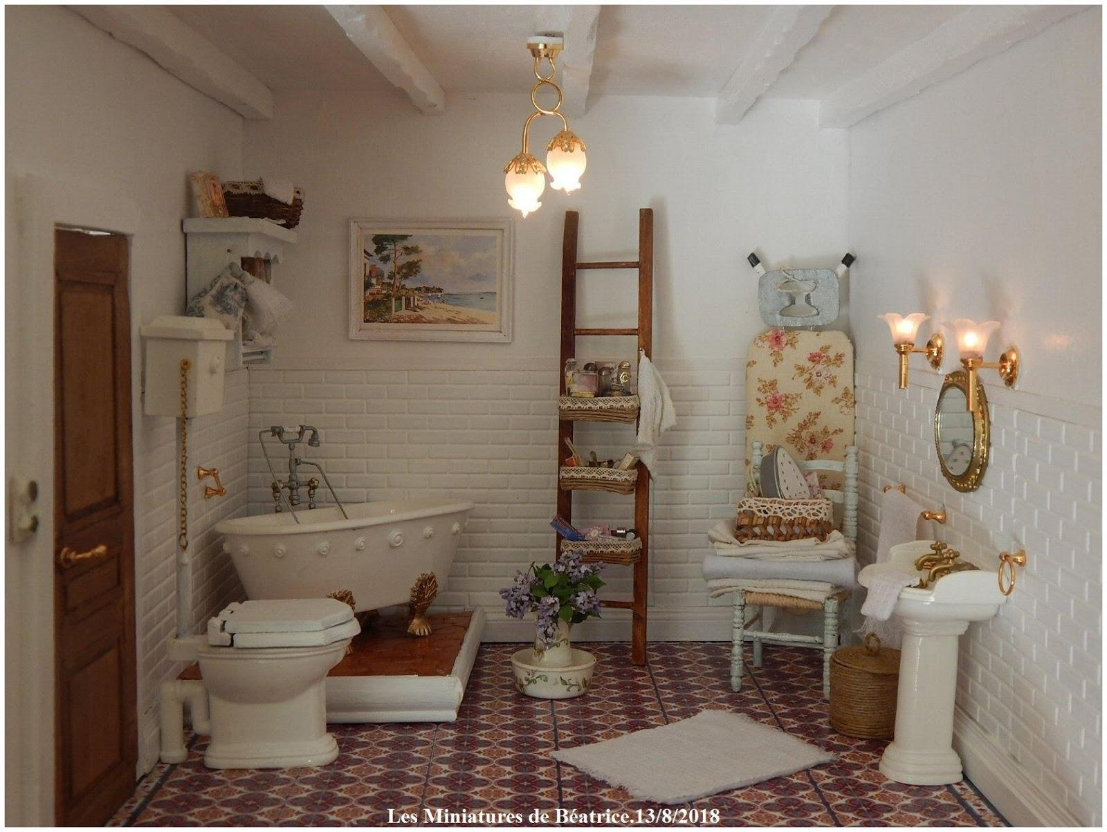 Salle De Bain Miniature ~ les miniatures de b atrice la salle de bains est termin e