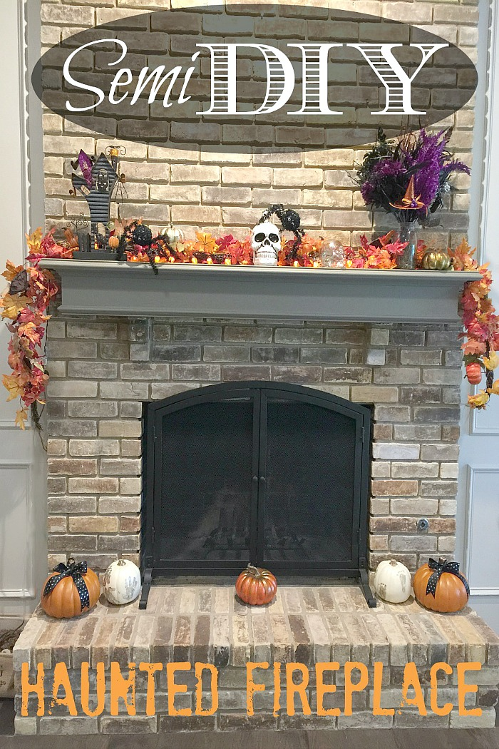 An Uncomplicated Life Blog: Semi DIY Haunted Fireplace Mantel