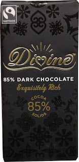 Divine 85 percent dark chocolate bar