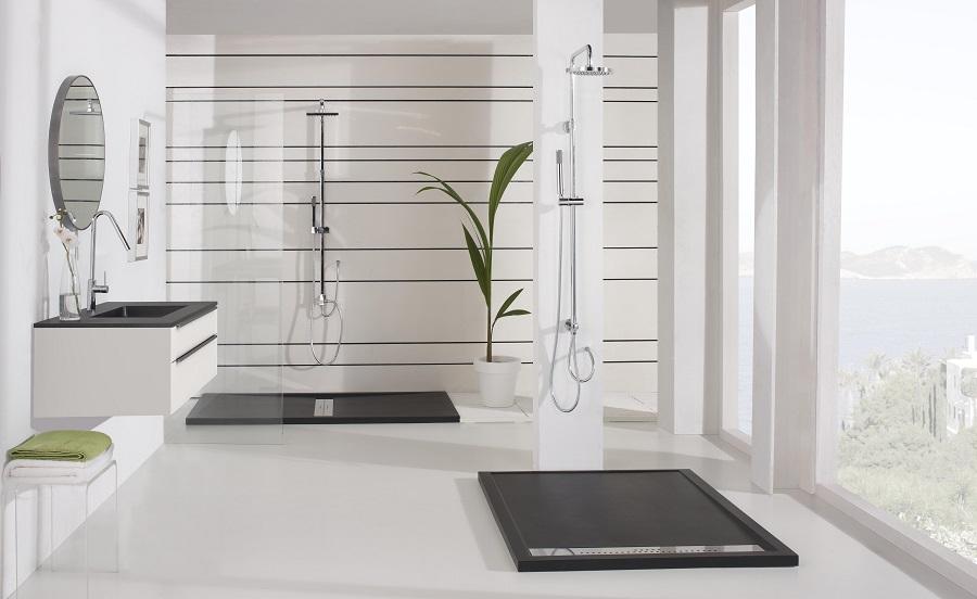 materiales de fábrica baño de diseño