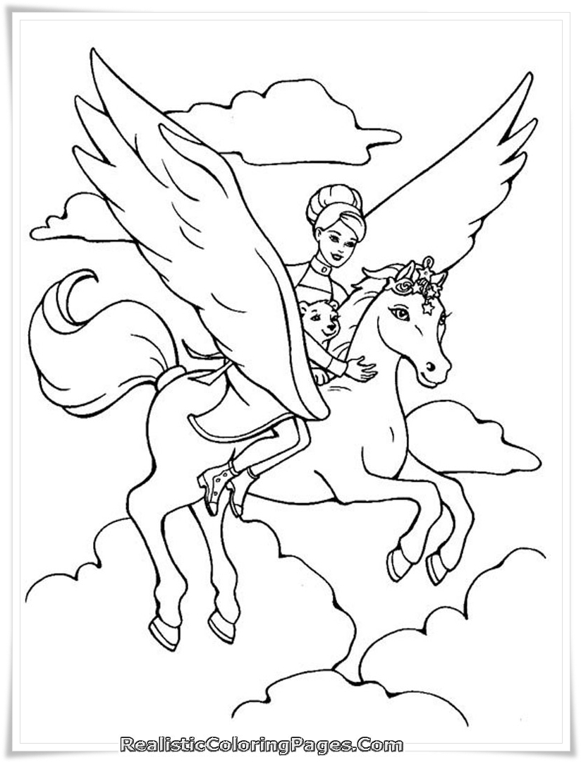 Ausmalbilder Barbie Merliah : Barbie And The Magic Of Pegasus Girls Coloring Pages Realistic