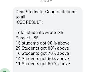 Today News Headlines of ICSE Results from 10 Exam Monfort School Pass 2019.