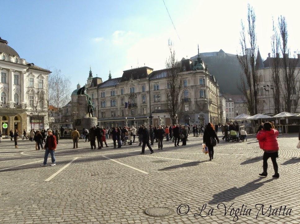 reportage Ljubljana Piazza Preseren