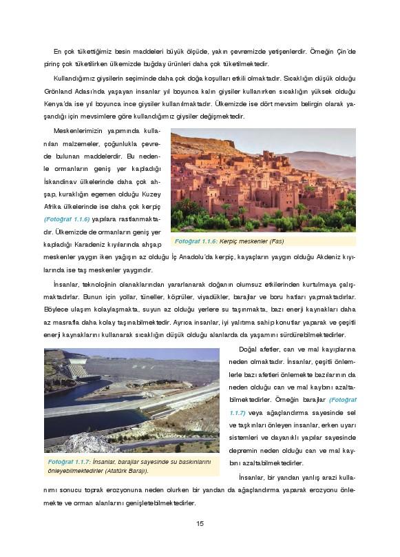 9. Sınıf Coğrafya Ders Kitabı Cevapları Fersa Yayınları Sayfa 15