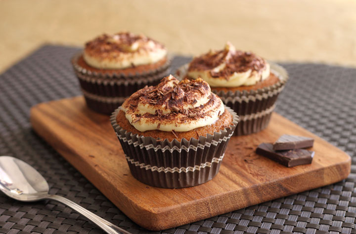 Scientifically Sweet Boozey Truffled Frappuccino Cupcakes