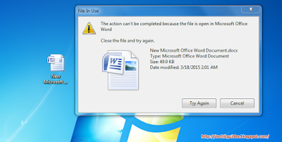 Delete a file is in use windows