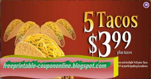image regarding Taco Bell Printable Coupons identified as Taco bell discount codes 2018 / Knight discount codes