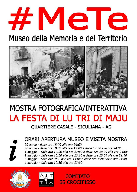 La Festa di lu Tri di Maju: mostra fotografica - iterattiva al Museo #MeTe di Siculiana