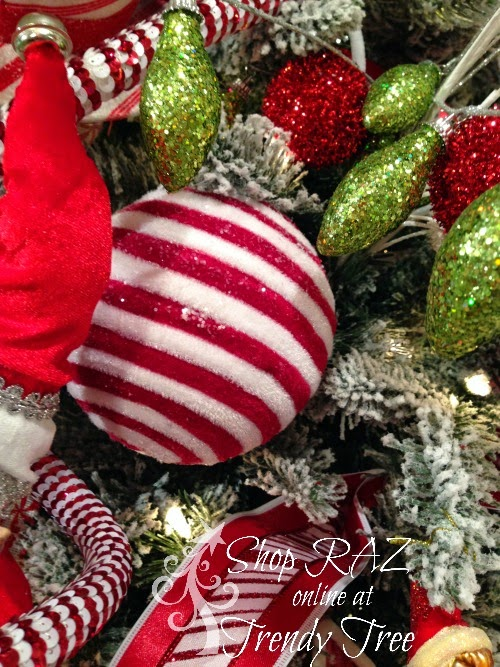 http://www.trendytree.com/raz-christmas-and-halloween-decor/raz-5-iced-striped-plush-red-white-ball-ornament.html
