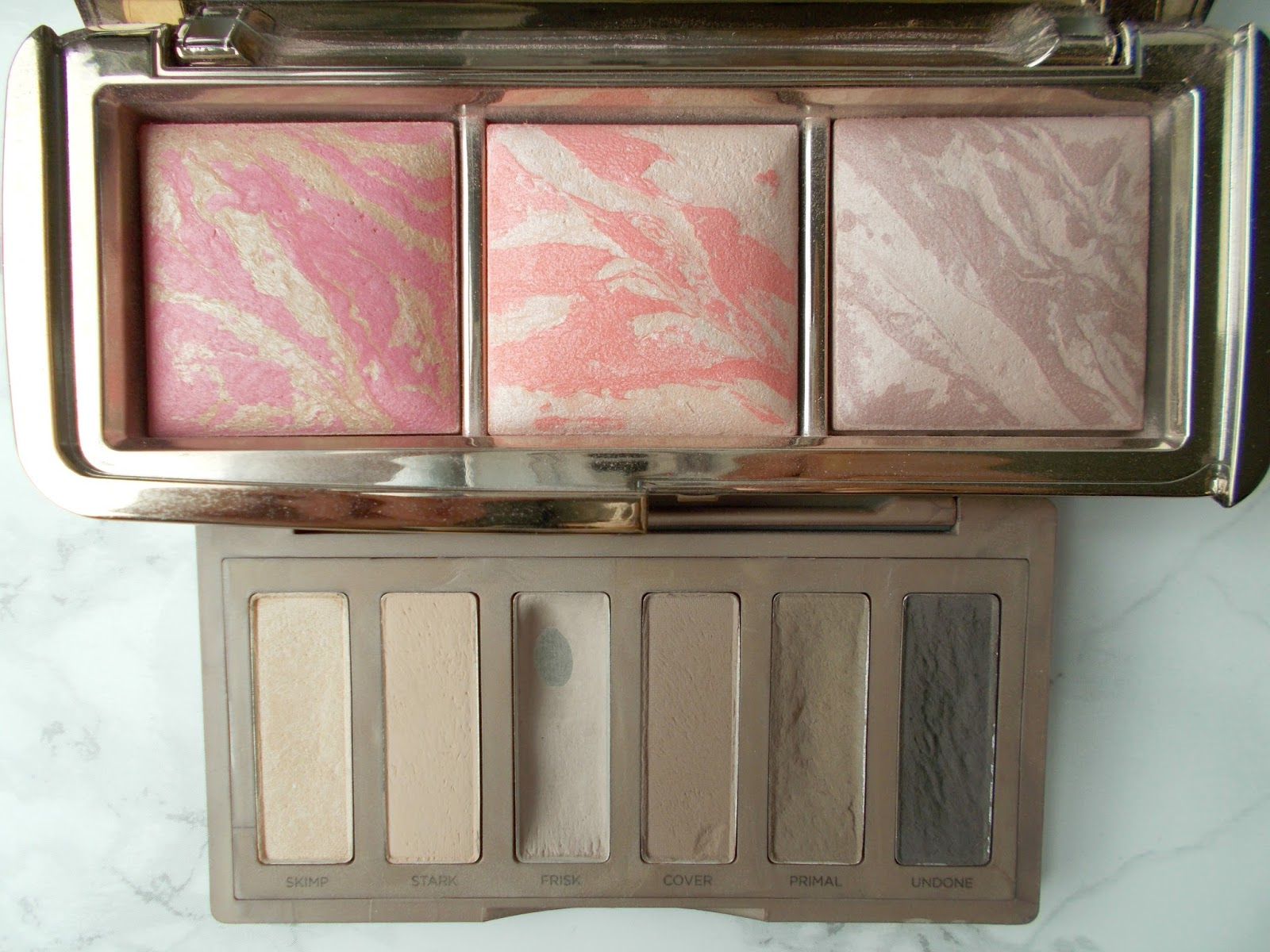 Hourglass ambient lighting blush palette urban decay naked basics 2