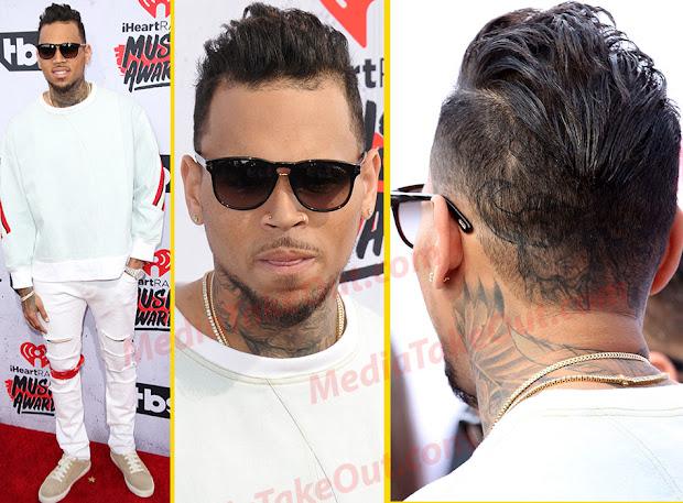 celebrities hairstyles chris brown