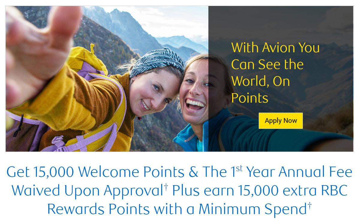 Canadian Rewards: RBC Visa Infinite Avion: 30000 welcome