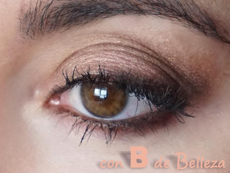 Maquillaje ojos marrones cálidos