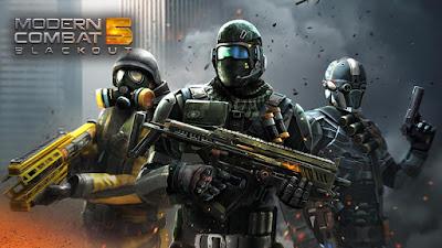 لعبة Modern Combat 5 مهكرة للأندرويد - رابط مباشر