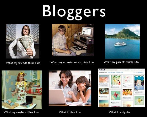 lo que piensan de ser blogger