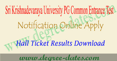 SKUCET 2019 notification online apply hall ticket results sku pgcet