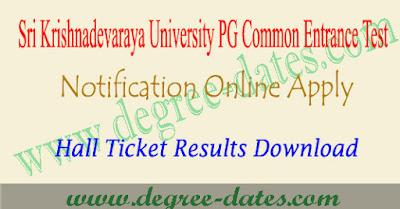 SKUCET 2019 notification online apply hall ticket results sku pgcet