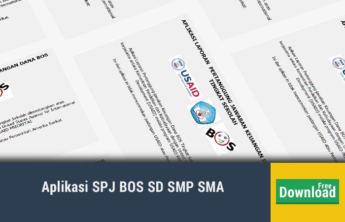 Aplikasi SPJ BOS Versi Terbaru Tahun 2017/2018