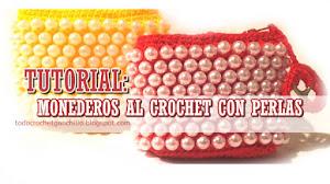 Aprende a tejer monedero al crochet con perlas paso a paso