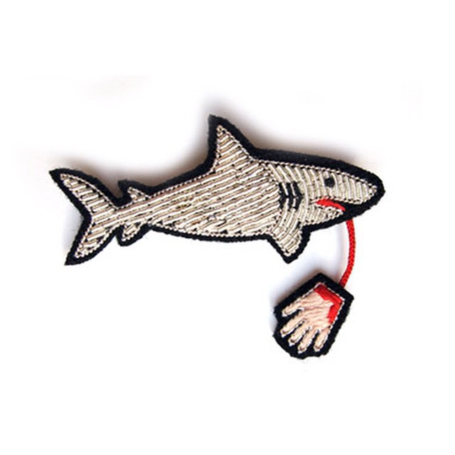 embroidered shark patch