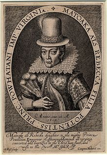 1616 Engraving of Pocahontas