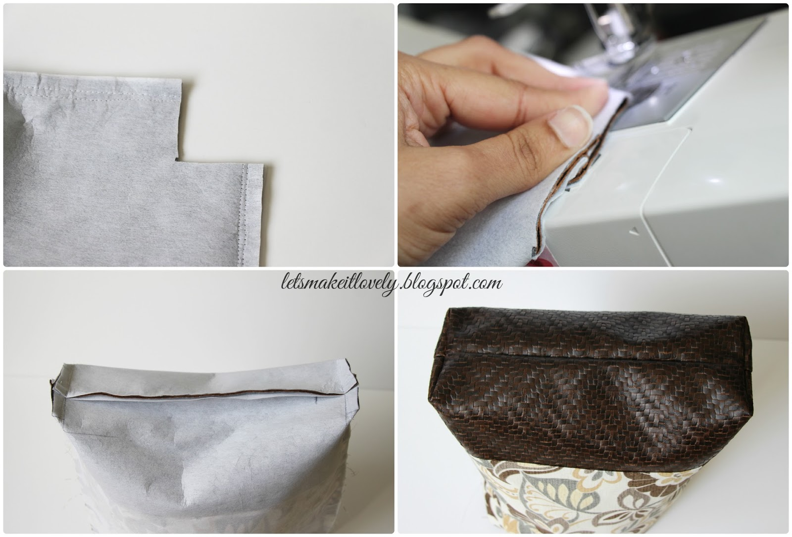 Faux Leather Base Tote Bag Step By Tutorial Part I Includes Measurements