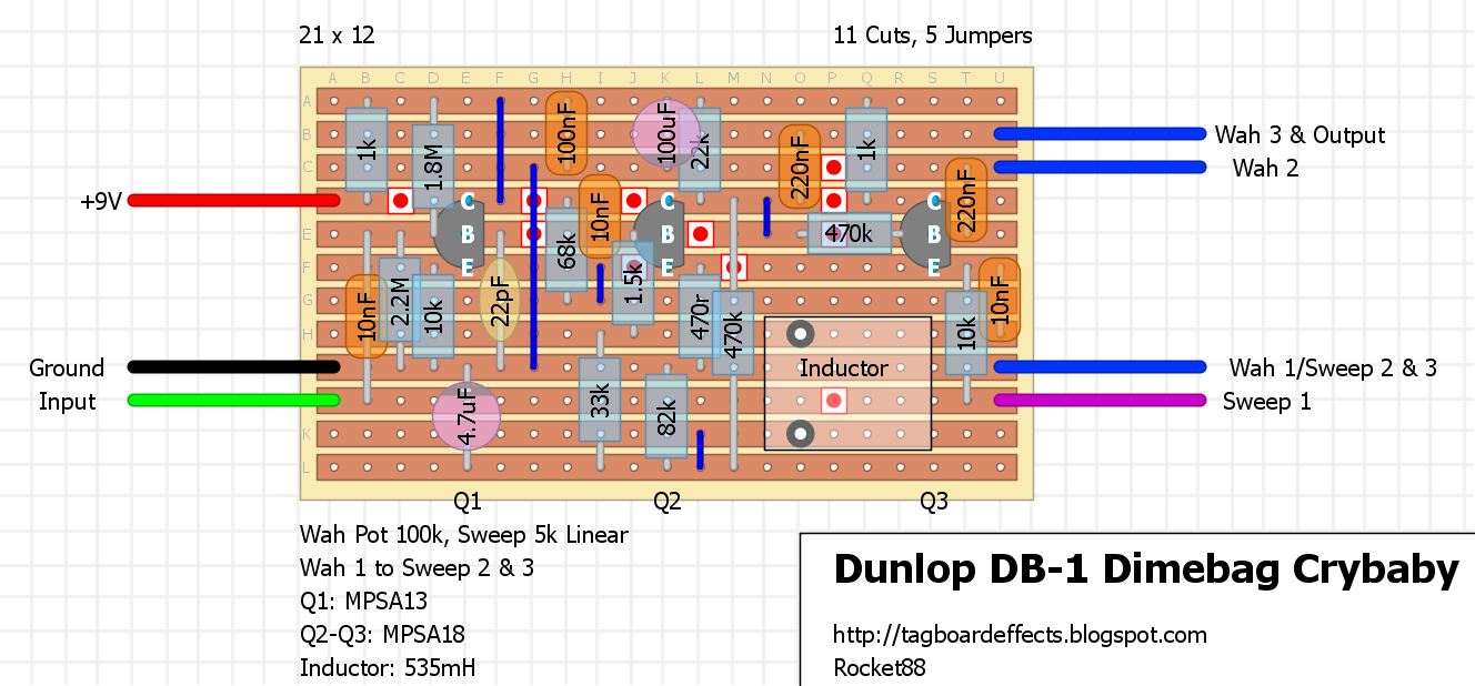 Guitar Fx Layouts Dunlop Db 1 Dimebag Crybaby