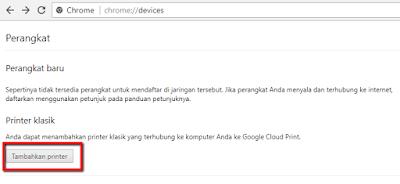 Langka-langkah cara print dokumen dari Android menggunakan aplikasi Google Cloud Print