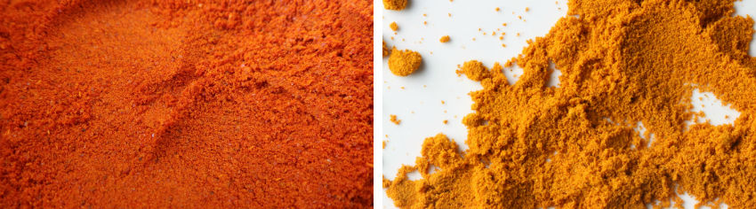 Chilli Powder and Turmeric Powder