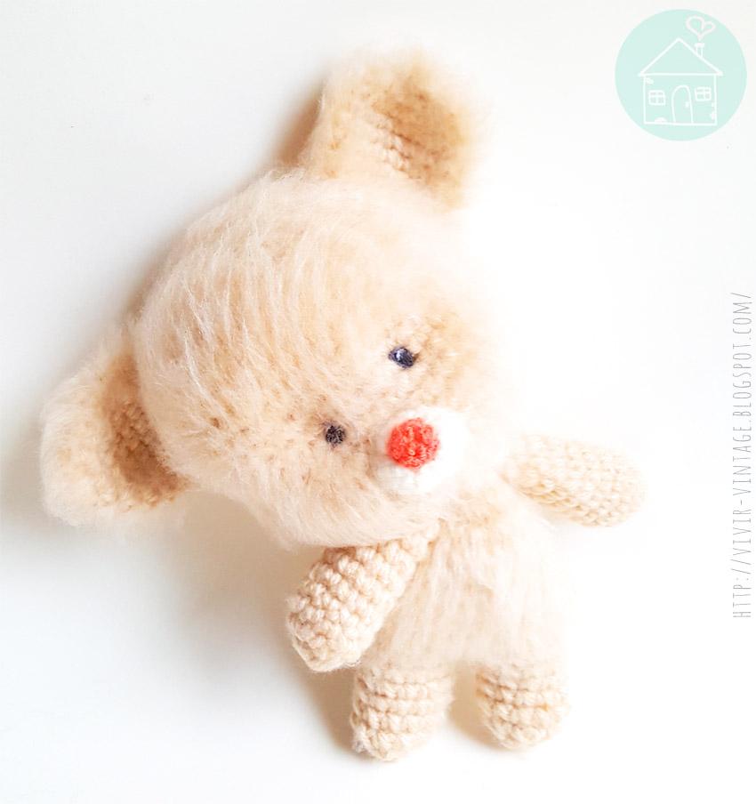 Como tejer un osito en crochet (Patrón gratis) y como hacerle pelo ...