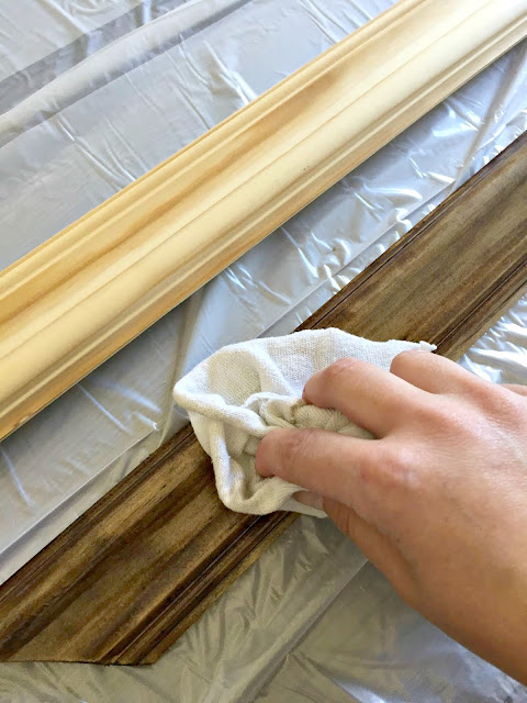 how to stain wood trim