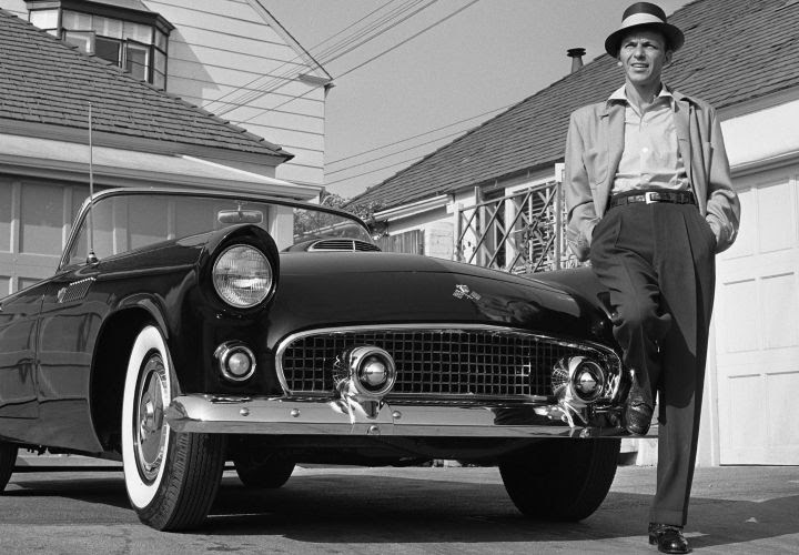 Frank Sinatra With His Thunderbird, 1955